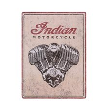 INDIAN ENGINE METAL SIGN