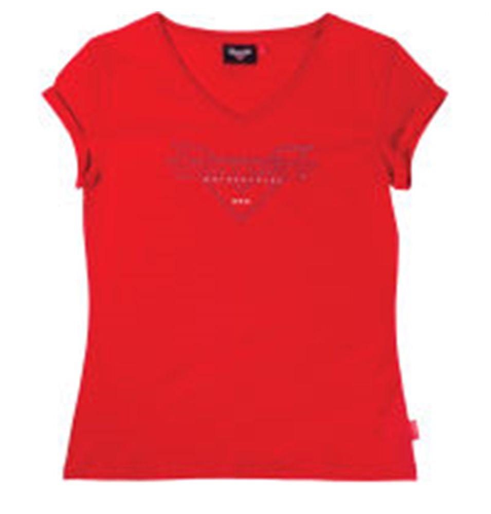 VICTORY DIAMANTE CREW NECK T-SHIRT RED